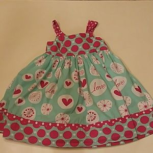 Jelly The Pug Dresses - Jelly the Pug size 7 love reverse knot dress